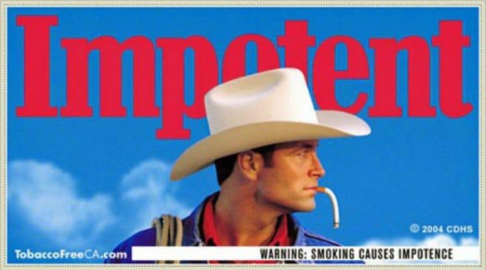 Fumar produce impotencia y puede ser patetico