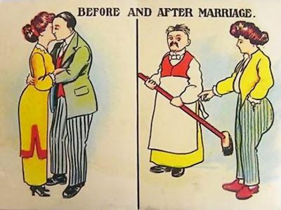 imágenes graciosas del antes y el después matrimonio