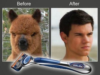 imágenes graciosas del antes y el después afeitado