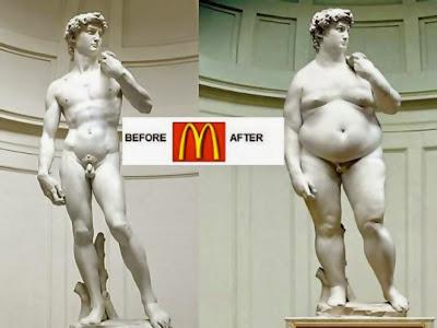 imágenes graciosas del antes y el después comida basura