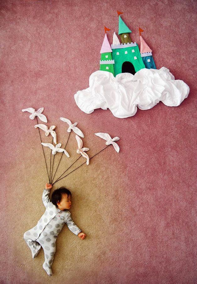 bebe dormido fotos creativas