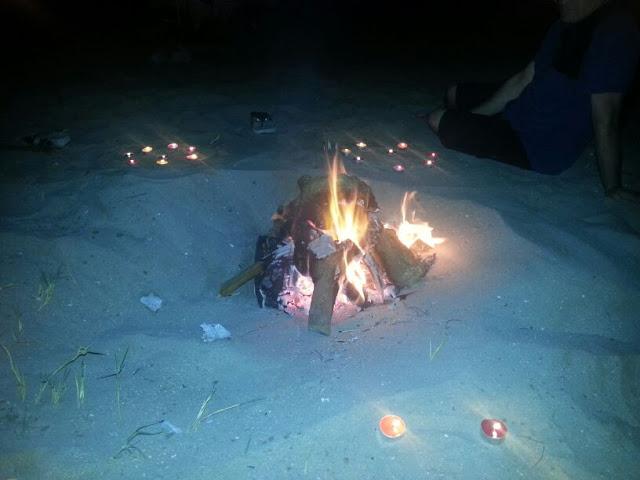 Hoguera y rituales de velas