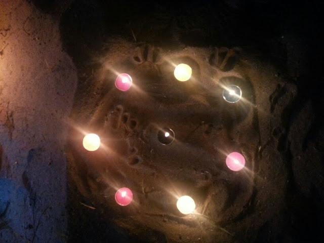 Círculo mágico velas