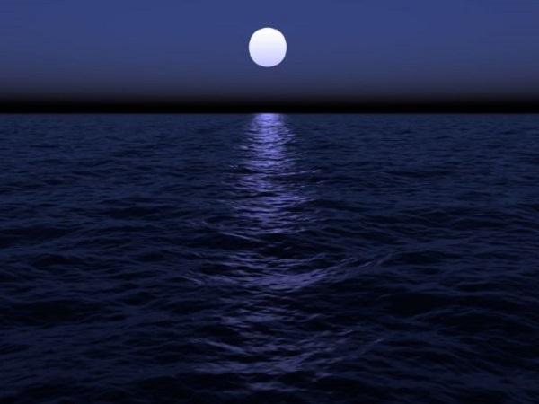 Reflejo de la Luna en el mar