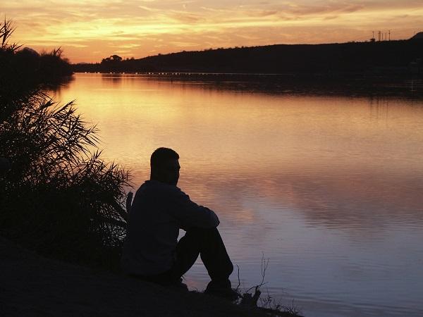 Contemplacion, naturaleza, ocaso