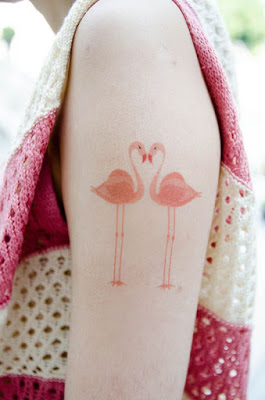 tatuajes originales amigos flamencos