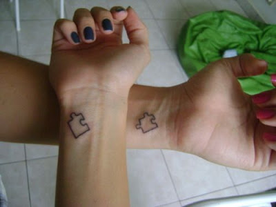 tatuajes originales amigos piezas puzzle