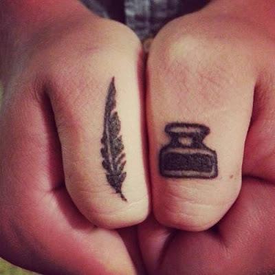 tatuajes originales amigos tinta y tintero