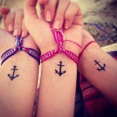 tatuajes originales amigos anclas