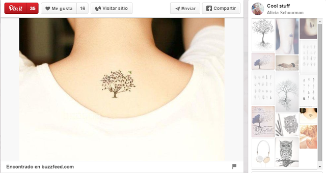 ideas para tatuajes pequeños árbol