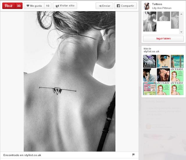 ideas para tatuajes pequeños triángulo