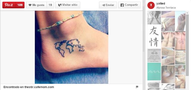 ideas para tatuajes pequeños mapa