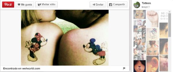 ideas para tatuajes parejas mickey y minnie
