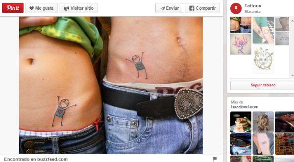 ideas para tatuajes parejas dibujo original
