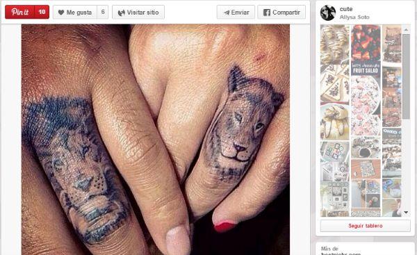 ideas para tatuajes parejas león y leona