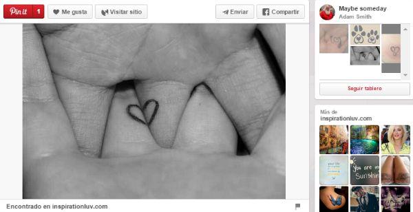 ideas para tatuajes parejas corazón