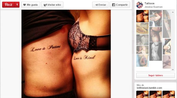 ideas para tatuajes parejas frases amor