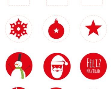 Pegatinas de Navidad imprimibles