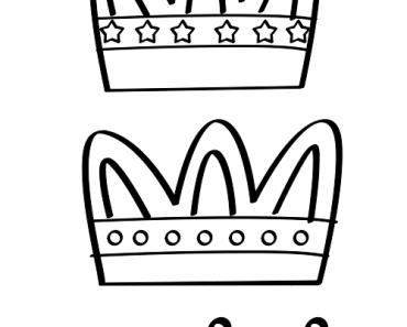 Corona Reyes Magos para colorear