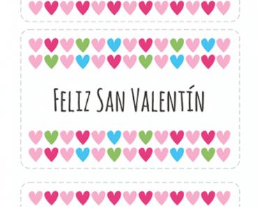 Tarjetas de San Valentín para imprimir