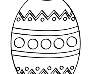 Dibujos de huevo de Pascua para imprimir y colorear