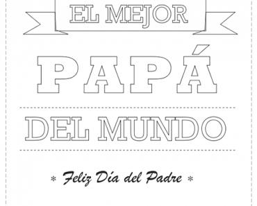 Tarjetas del Día del Padre para colorear