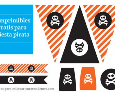 Imprimibles para fiesta pirata
