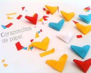 Cómo hacer corazoncitos de papel inflados