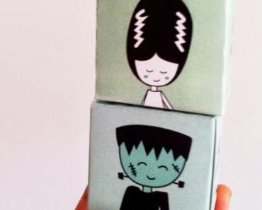 Cajas de Halloween para imprimir