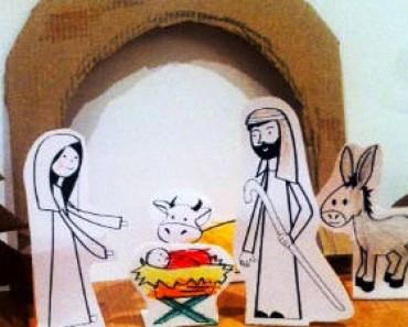 Cómo hacer un belén casero para niños: Belén de Navidad para colorear y recortar