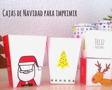 15 Cajas de Navidad para imprimir