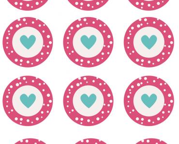 San Valentín: wrappers y toppers de cupcakes para imprimir