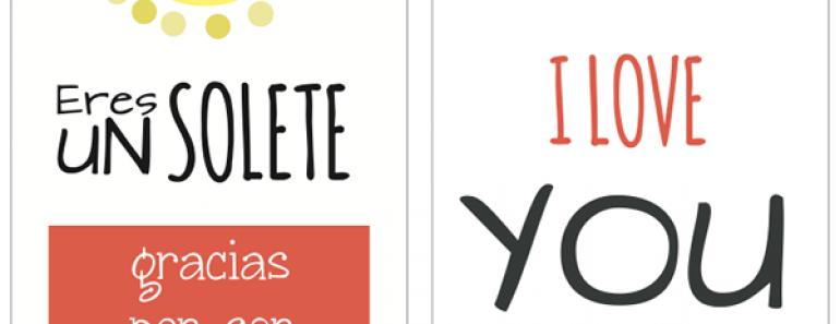 Tarjetas originales para San Valentín