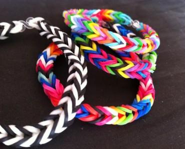 Cómo hacer pulseras con gomas de colores