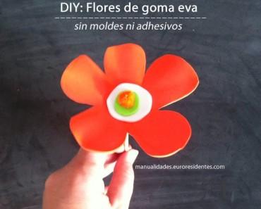 Flores de goma eva fáciles