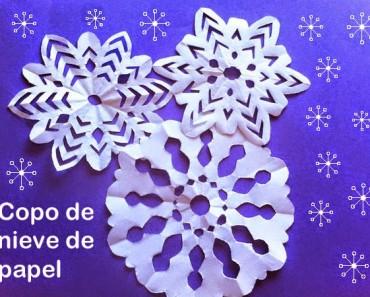 Cómo hacer copos de nieve de papel fácil