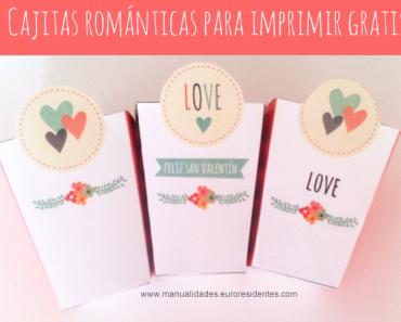 Cajas románticas para imprimir