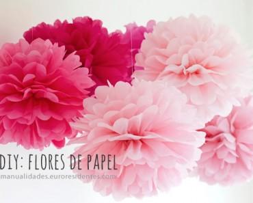 Cómo hacer flores de papel de seda DIY