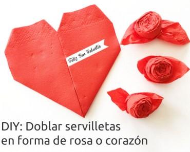2 ideas para doblar servilletas en San Valentín