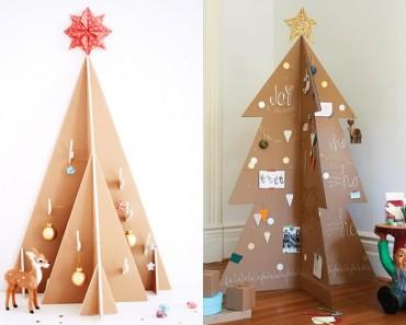 5 formas creativas de hacer un árbol de Navidad