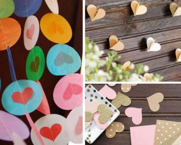 Cómo hacer una guirnalda de corazones: tutorial e ideas para inspirarte