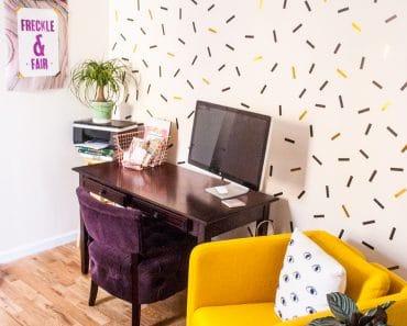 Decorar paredes con cinta washi tape, ideas geniales y fáciles