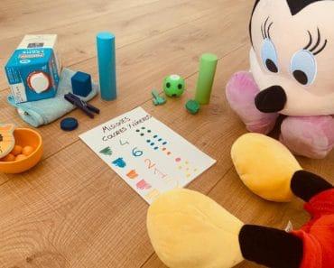Juego de colores y números para niños de 2 años (ideal para el confinamiento)