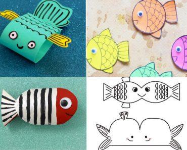 Peces de papel: ideas divertidas y fáciles