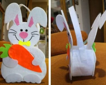 Conejo de Pascua de fieltro