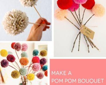 Hacer flores con pompones