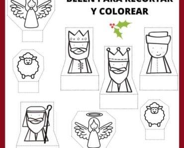 Figuras del Belén para colorear y recortar | gratis