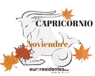 Horóscopo Capricornio Noviembre 2018