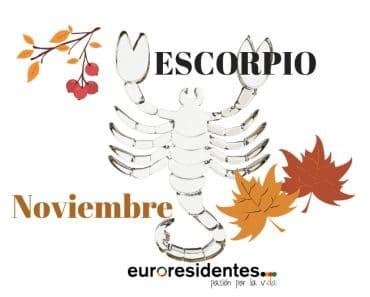 Horóscopo Escorpio Noviembre 2018