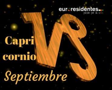 Horóscopo Capricornio Septiembre 2018